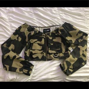 Fashion Nova Camo Crop Top